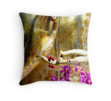 Buddha Hands And Flowers Throw Pillow