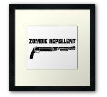 Zombie Repellent Framed Print