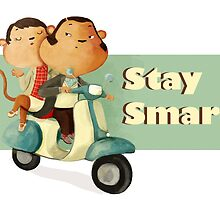 Stay Smart Scooter Monkeys by colonelle