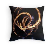 Fire-Dancing Girl Throw Pillow
