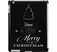 Merry Christmas typography card with scratched background  iPad Case/Skin
