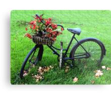 Bicycle Basket Metal Print