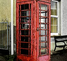 Painted phone booth by Paul Jaffe Photographer