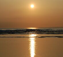 Reflecting Sun 2 - Ballybunnion Beach by Pat Herlihy