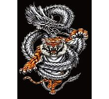 dragon fight with a tiger Photographic Print