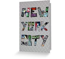 New York City Street Art Greeting Card