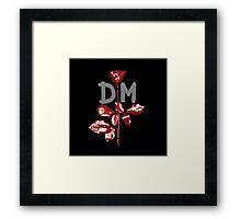 Depeche Mode : Violator DM Paint Grey Framed Print