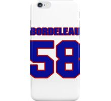 National Hockey player Patrick Bordeleau jersey 58 iPhone Case/Skin