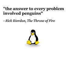 The Answer to Every Problem Involved Penguins by boscorat