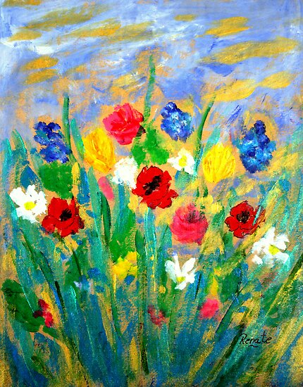 Wild-flowers. by Renate  Dartois