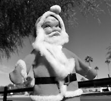 One of Grandma's Santas in Black and White by AshleyPaynter