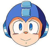 Mega Man Head by Bee-Blader