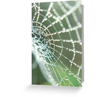 Web of Pearls Greeting Card