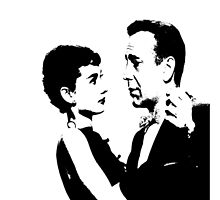 Audrey Hepburn And Humphrey Bogart by Museenglish