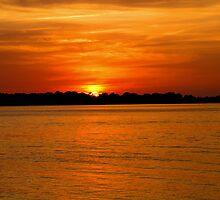 Sunset at Cedar Key by John  Simmons
