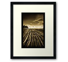 Flowing Textures Framed Print