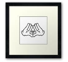 Swag Hand Framed Print