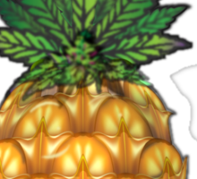 Pineapple Kush Marijauna Strain Art Sticker