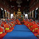 Monks At Wat Suthet by Dave Lloyd