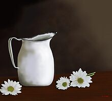 Daisies And Pitcher by Tim Stringer