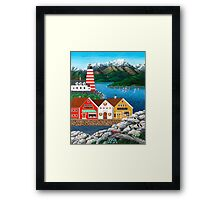 Puffin Point Framed Print