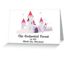 Enchanted Forest, Castle Greeting Card