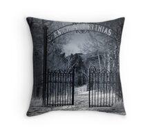 The Gates of Eternity Throw Pillow