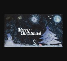 Marry Christmas, outdoor at night Kids Clothes