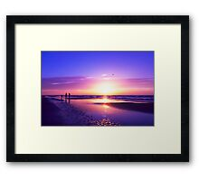 beautiful night on the beach Framed Print
