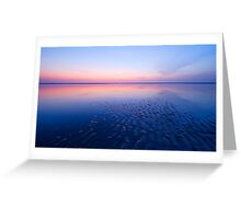 beautiful night at the beach Greeting Card