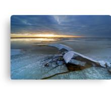 Cold winter landscape Metal Print