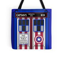 If Capt. America had a TARDIS. Tote Bag