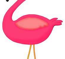 Pink Flamingo by BeachBumFamily