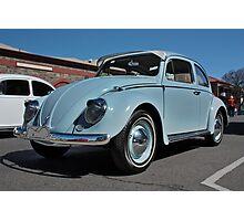 Pale Blue Volkswagen Type 1 Photographic Print