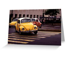 Taxis Mexico City Greeting Card