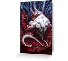 Night of the Jackal Greeting Card