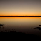 Sunrise, Lake Caroline, North Simpson Desert by Joe  Mortelliti