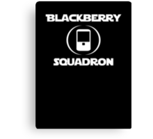 BlackBerry Squadron (White) Canvas Print