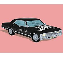 SuperWhoLocked in the Impala Photographic Print