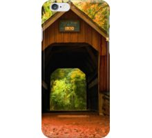 Covered Bridge,Little Hope Wisconsin  iPhone Case/Skin