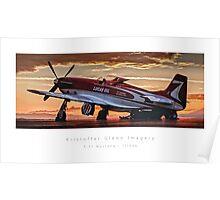 "P-51 Mustang ""Strega"" Poster"
