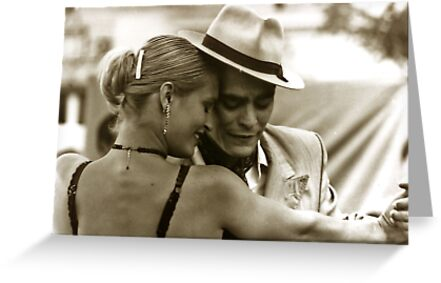 Tango dancing by Anthony Asael