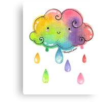Whimisical Rainbow Showers Canvas Print