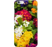 Bunch of multi colored flowers arranged together iPhone Case/Skin
