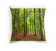 Beautiful lush Forest landscape Throw Pillow