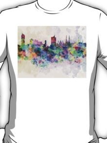 Vienna skyline in watercolor background T-Shirt