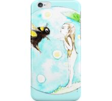 Bumble-bee faerie blowing kisses iPhone Case/Skin