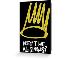 J Cole - Born Sinner Greeting Card