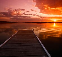 Warners Bay Sunset 3 by Mark Snelson
