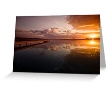 Warners Bay Sunset 6 Greeting Card